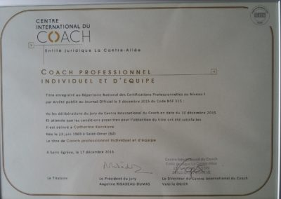 Certification CIC